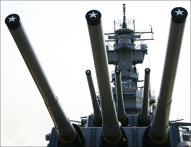 photoblog image Guns of USS New Jersey